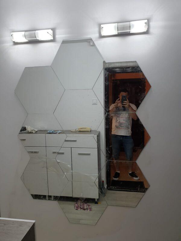 oglinda hexagon